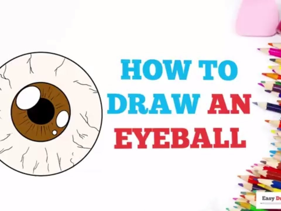 How To Draw An Eyeball Really Easy Drawing Tutorial