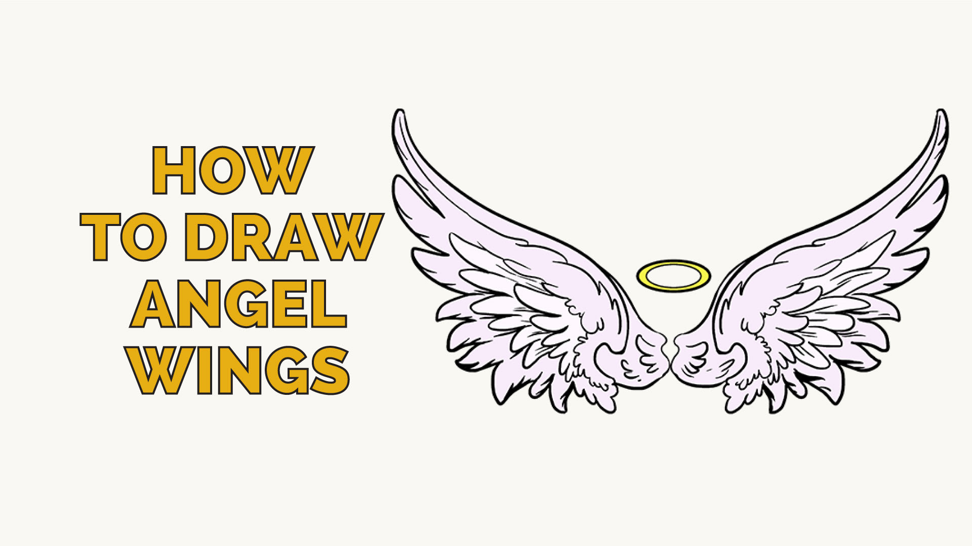 How To Draw Angel Wings In A Few Easy Steps Easy Drawing Guides