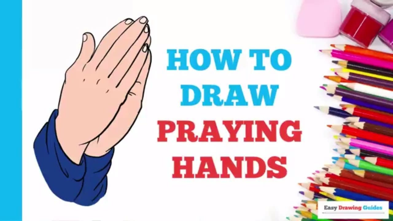 How To Draw Praying Hands Really Easy Drawing Tutorial