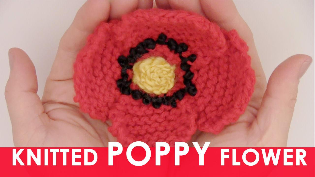 How to knit a poppy flower pattern with video tutorial studio knit mightylinksfo