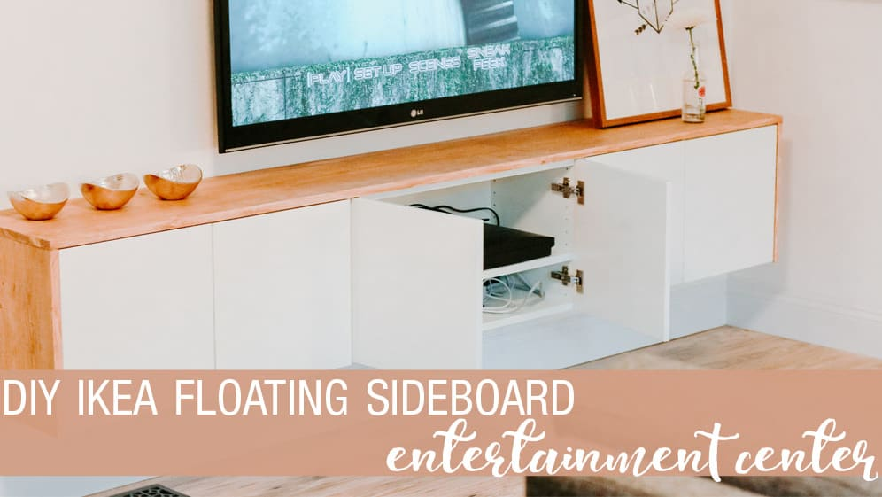 Ikea Credenza Floating : Diy floating sideboard tutorial petite modern life