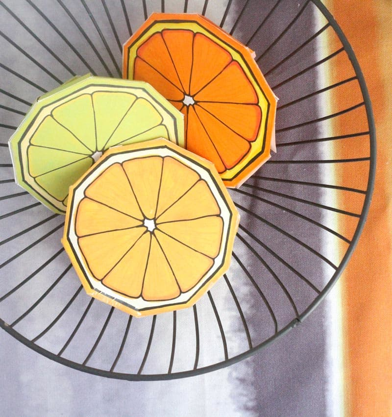 Fruit Coloring Pages A Citrus Slice Paper Craft