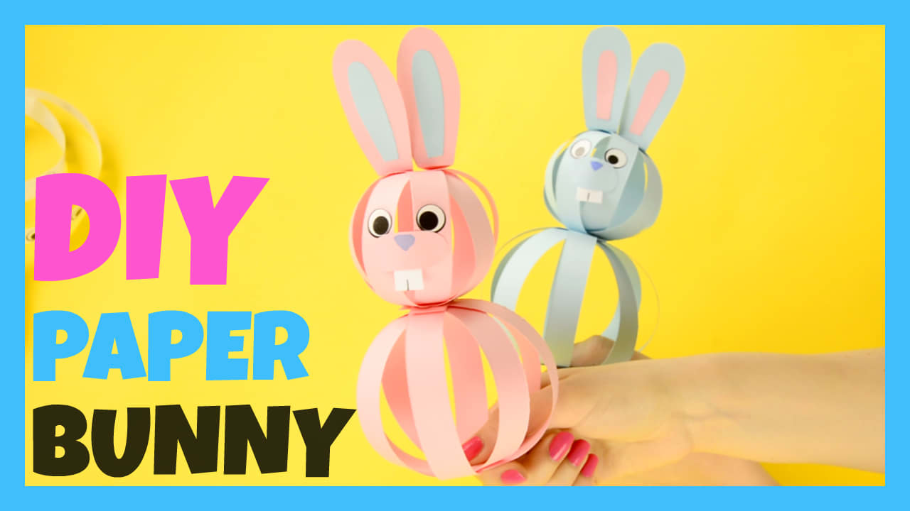 easy paper bunny craft easter idea for kids easy peasy and fun