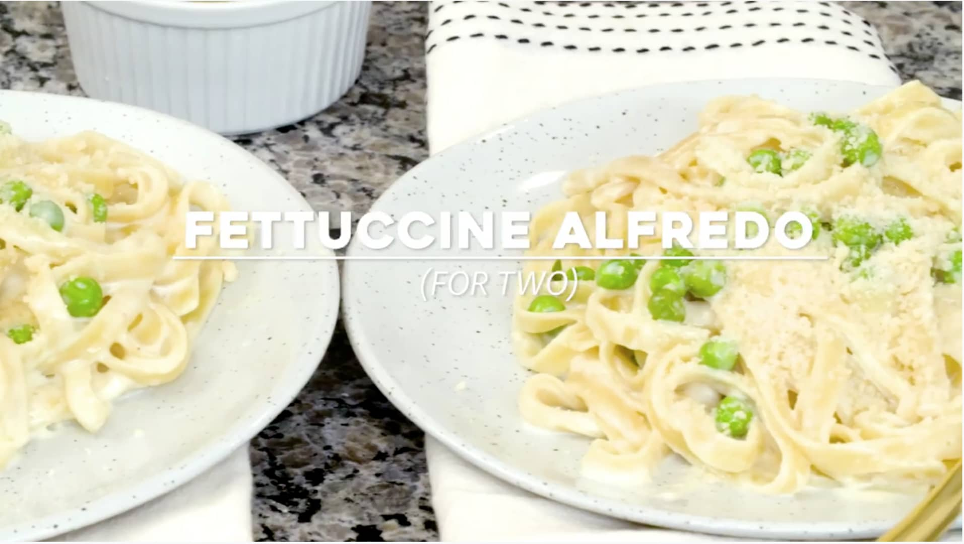 Easy Fettuccine Alfredo Recipe for Two   Dinner for Two recipes