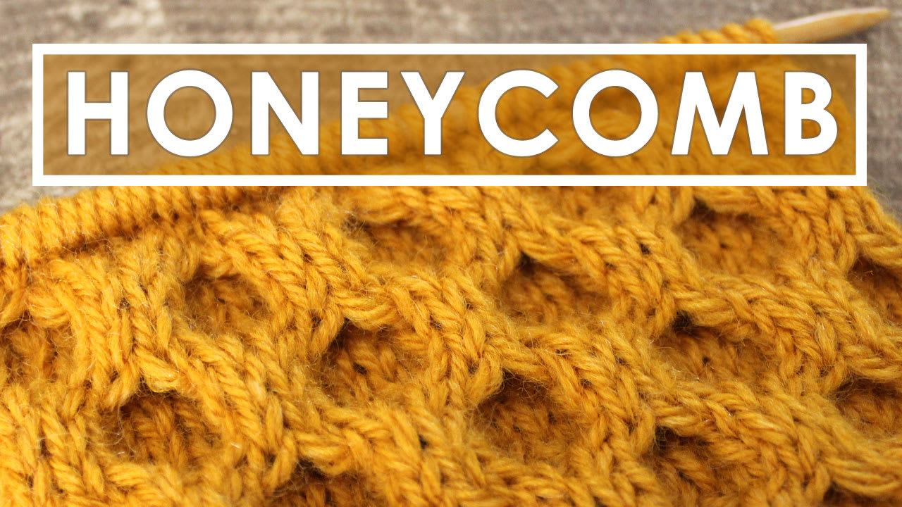 How to Knit the Honeycomb Cable Stitch Pattern with Video Tutorial ...