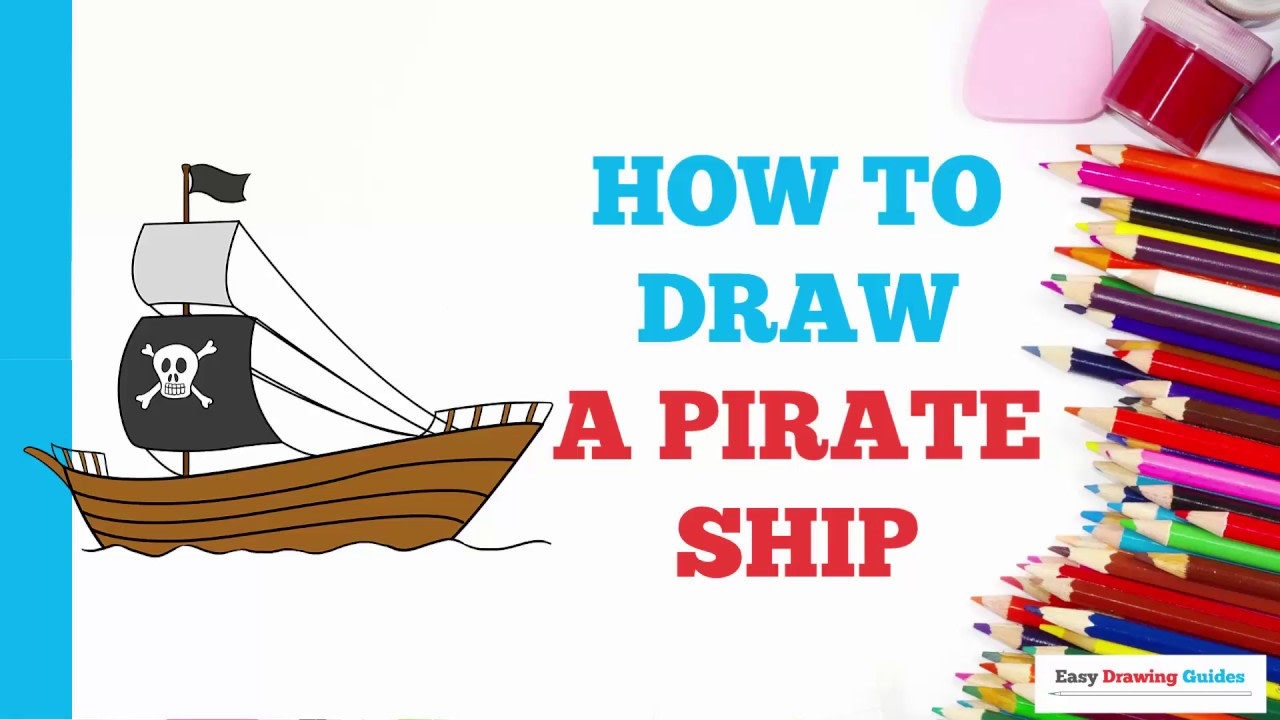 How To Draw A Pirate Ship Really Easy Drawing Tutorial Diagram With Labels Google Search Pirates Ships