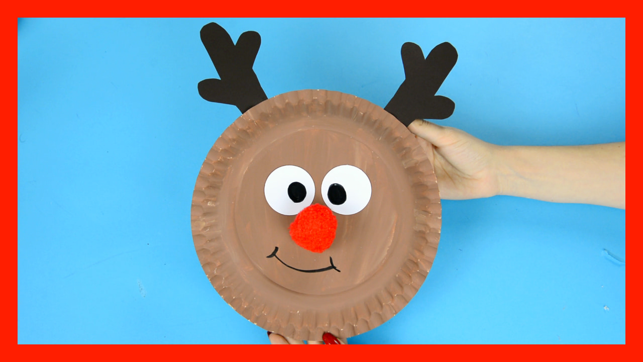 Reindeer Paper Plate Craft With A Cute Red Nose Easy Peasy And Fun