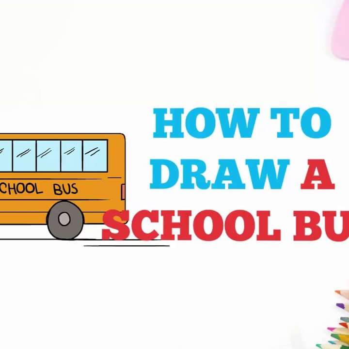 How To Draw A School Bus Easy Step By Step Drawing Tutorial