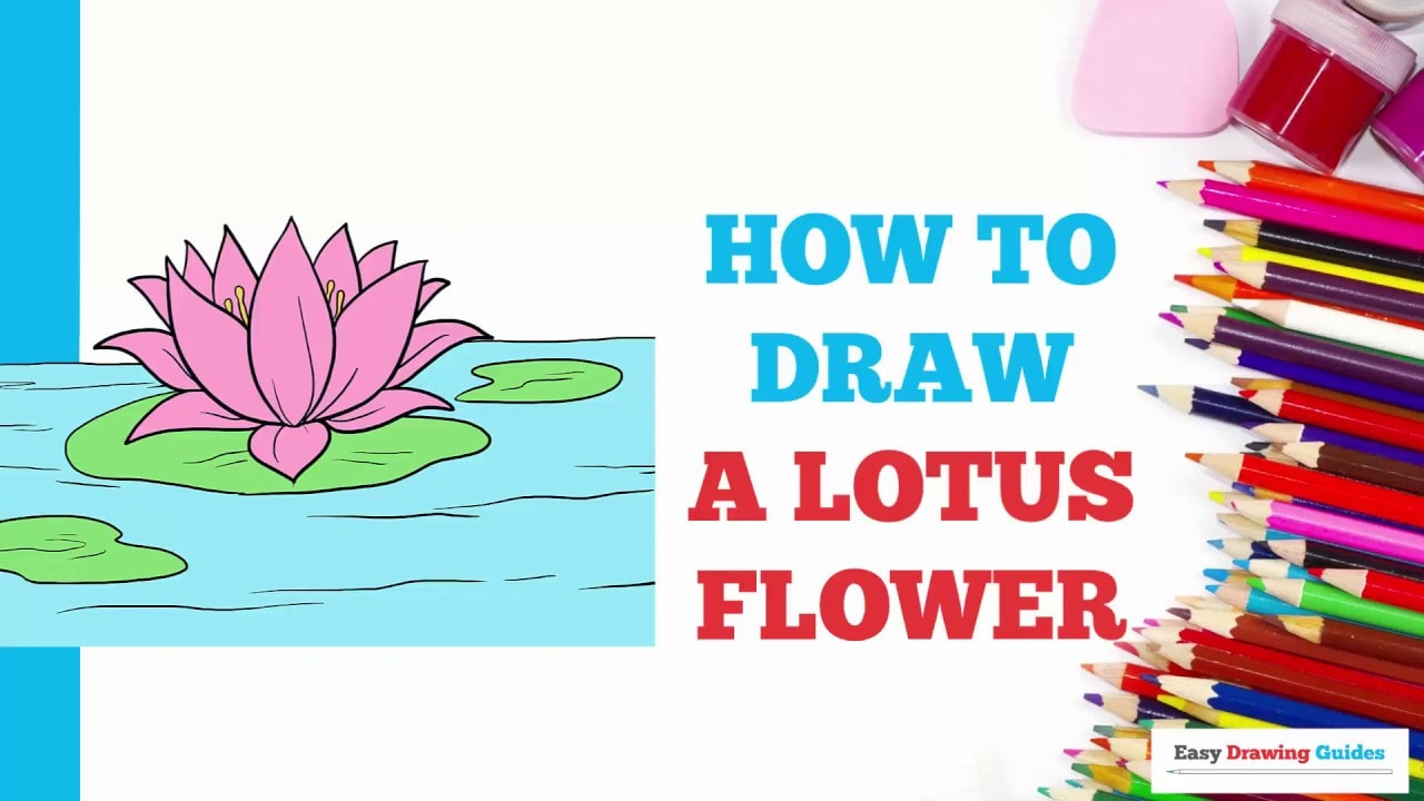 How To Draw A Lotus Flower Really Easy Drawing Tutorial