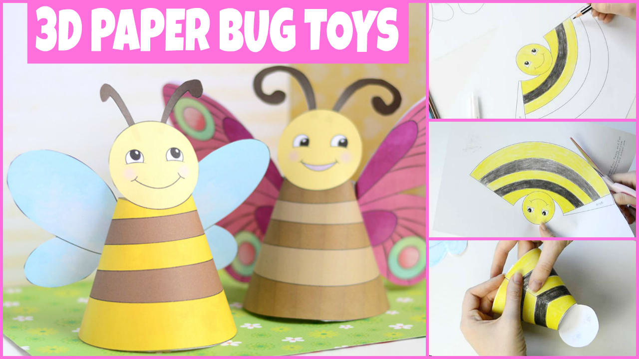 Bug Paper Toys 3d Paper Dolls Easy Peasy And Fun