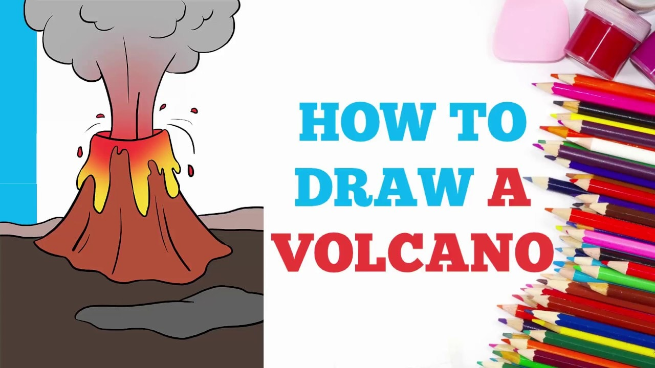 How To Draw A Volcano Really Easy Drawing Tutorial