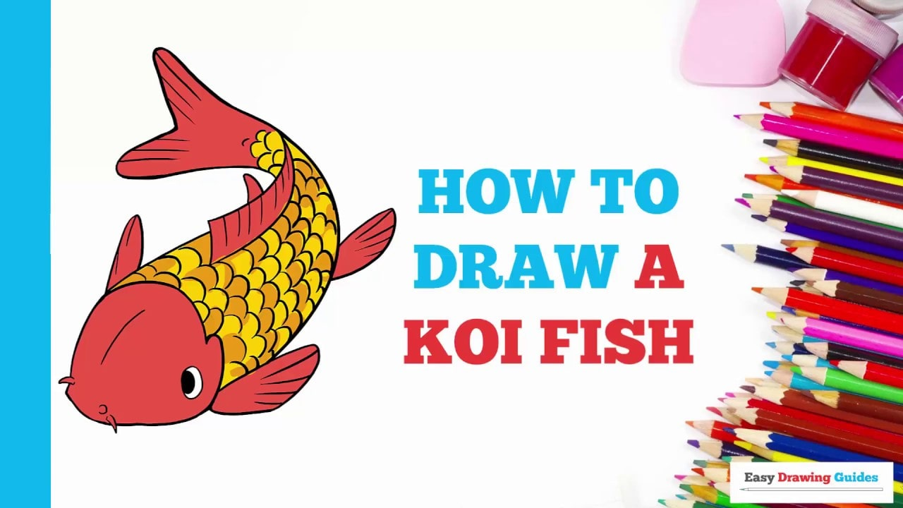 How To Draw A Koi Fish Really Easy Drawing Tutorial In 2018