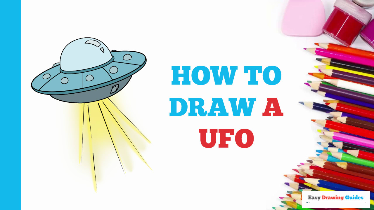 How To Draw A Ufo Really Easy Drawing Tutorial
