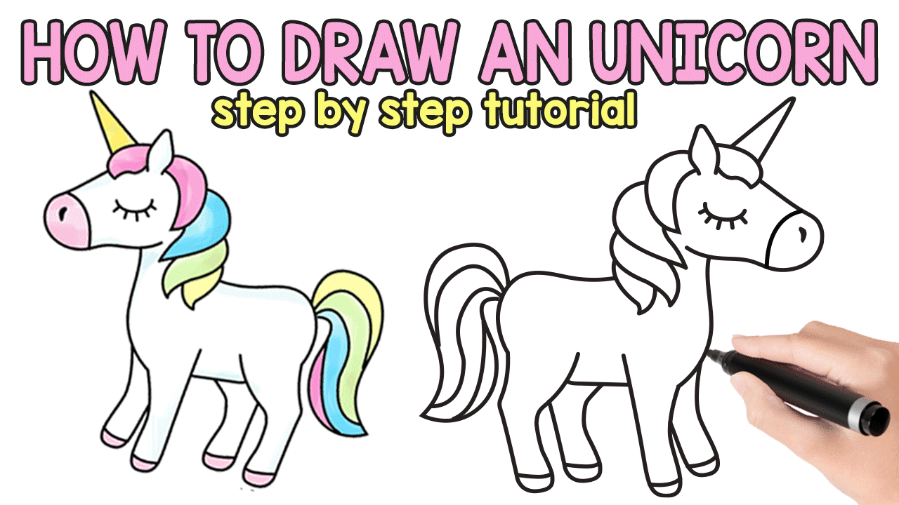How To Draw An Unicorn Easy And Cute Step By Step Drawing Tutorial