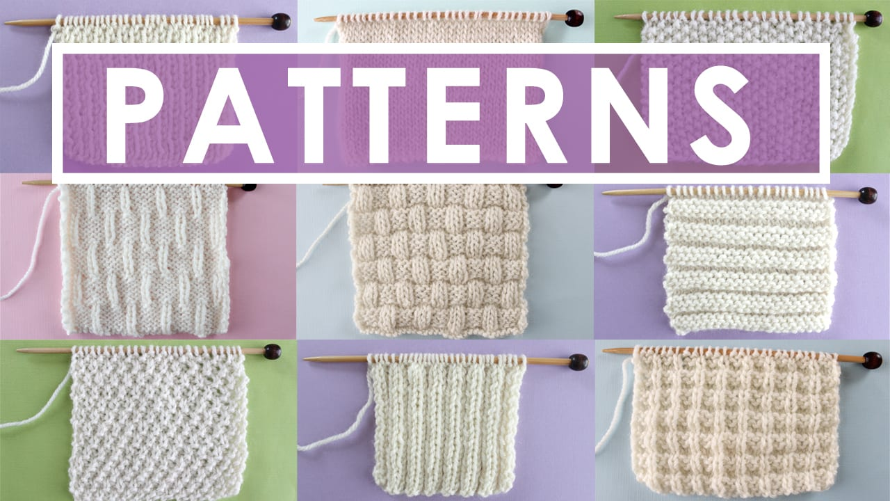 Fancy Easy Knit And Purl Patterns Motif - Blanket Knitting Pattern ...