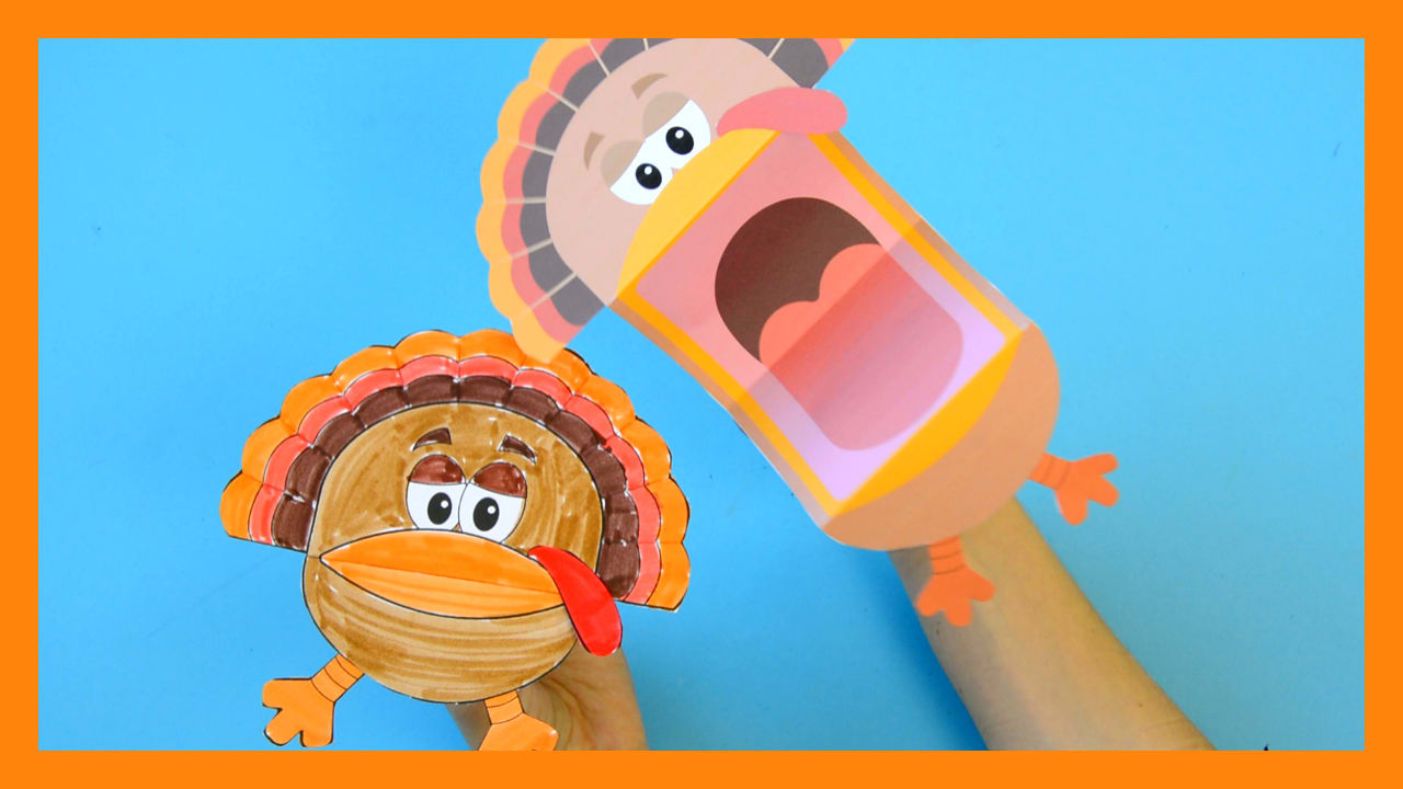 Printable Turkey Puppets - Easy Peasy and Fun