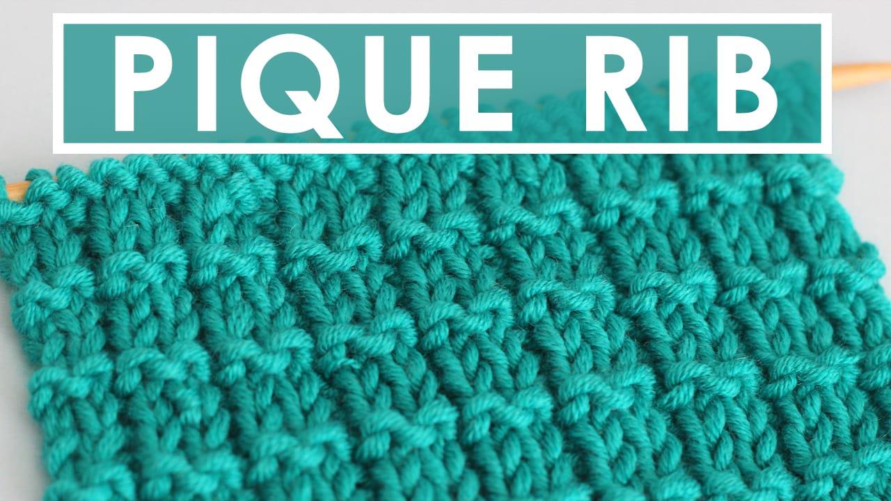 Pique Rib Knit Stitch Pattern With Video Tutorial Studio Knit