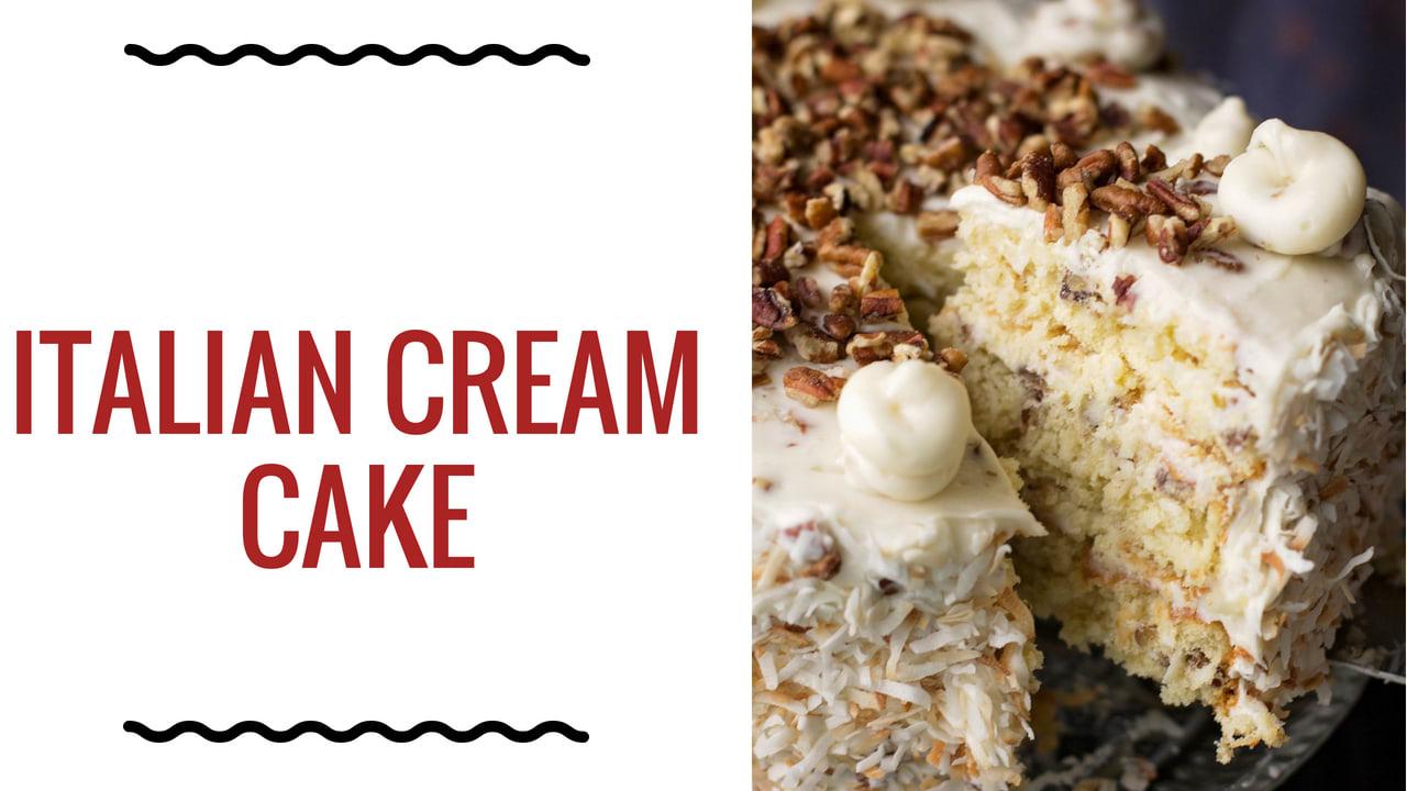 Italian Cream Cake Recipe | Feast and Farm