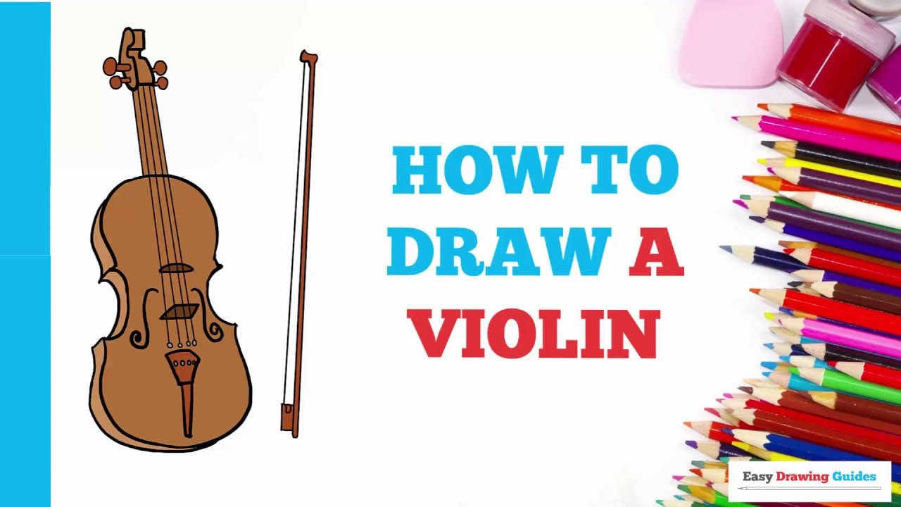 How To Draw A Violin Really Easy Drawing Tutorial