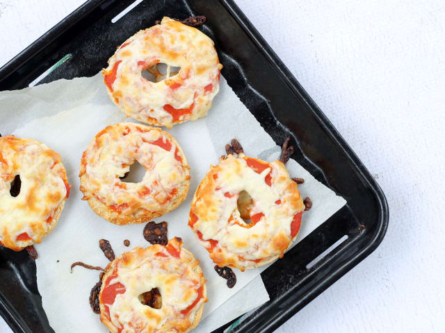 Homemade Bagel Bites Offer An After School Snack From Freezer To Plate