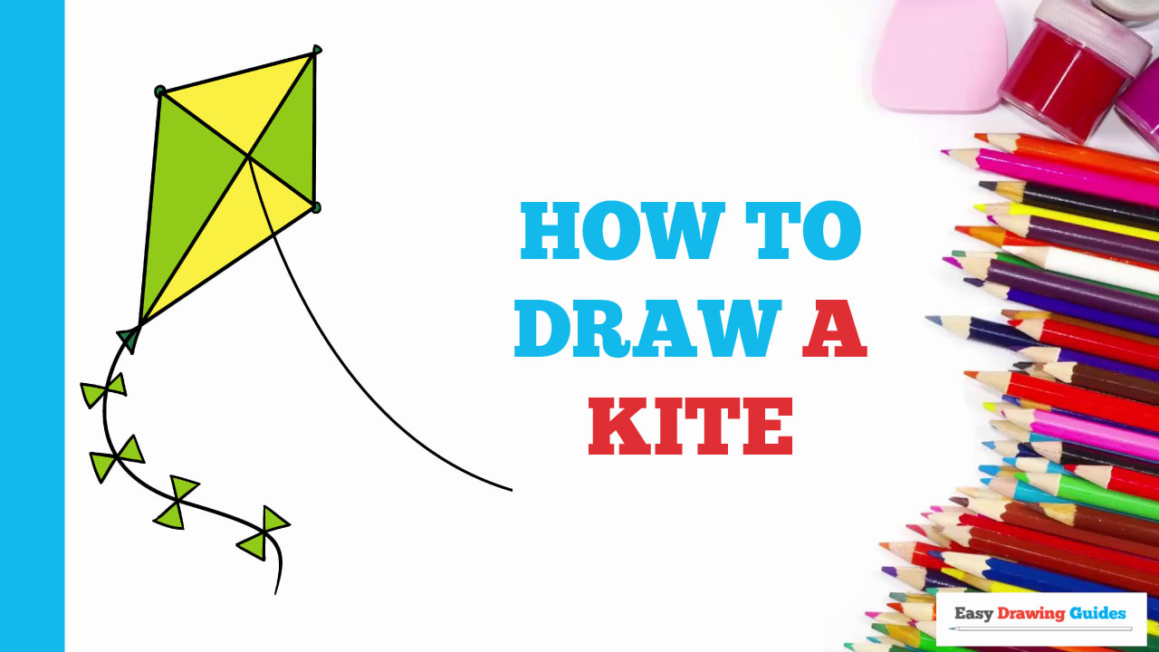 How To Draw A Kite Really Easy Drawing Tutorial