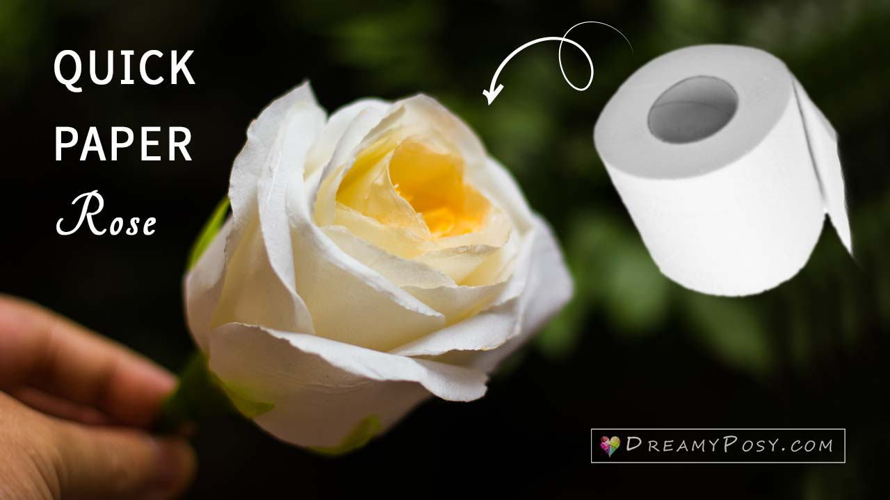 How To Make A Toilet Paper Rose So Quick And Realistic