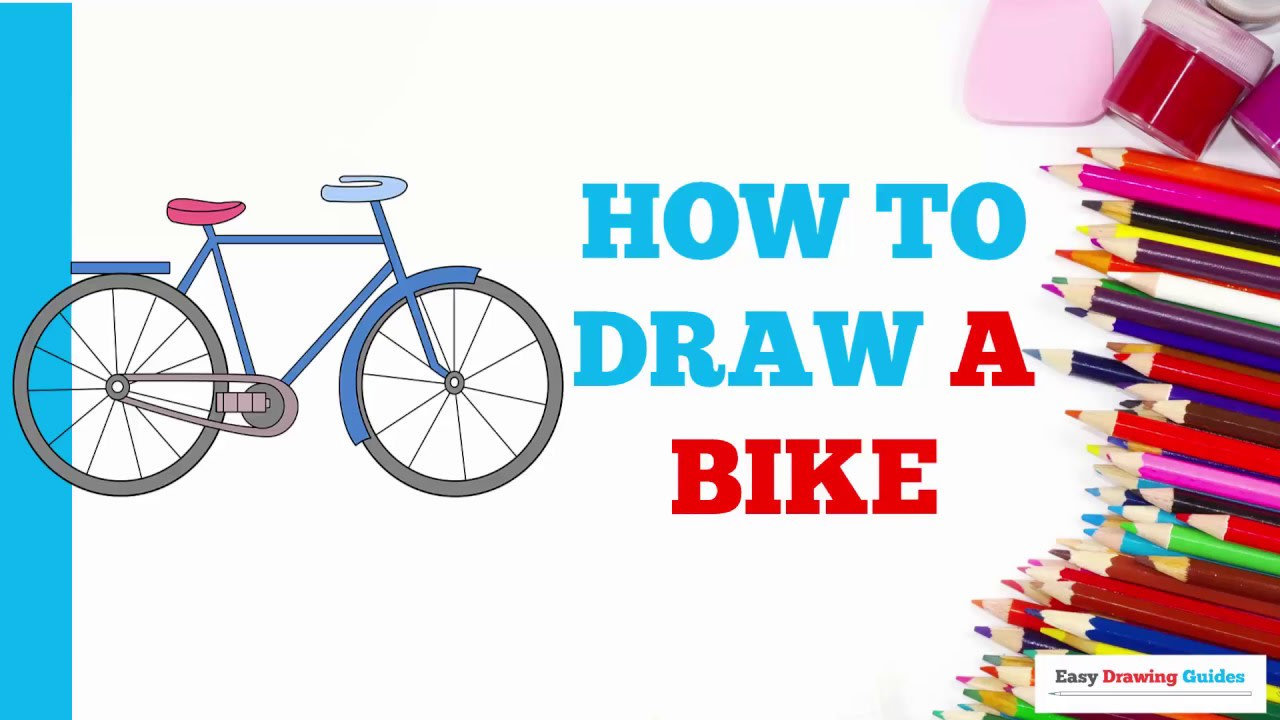 How To Draw A Bike Really Easy Drawing Tutorial