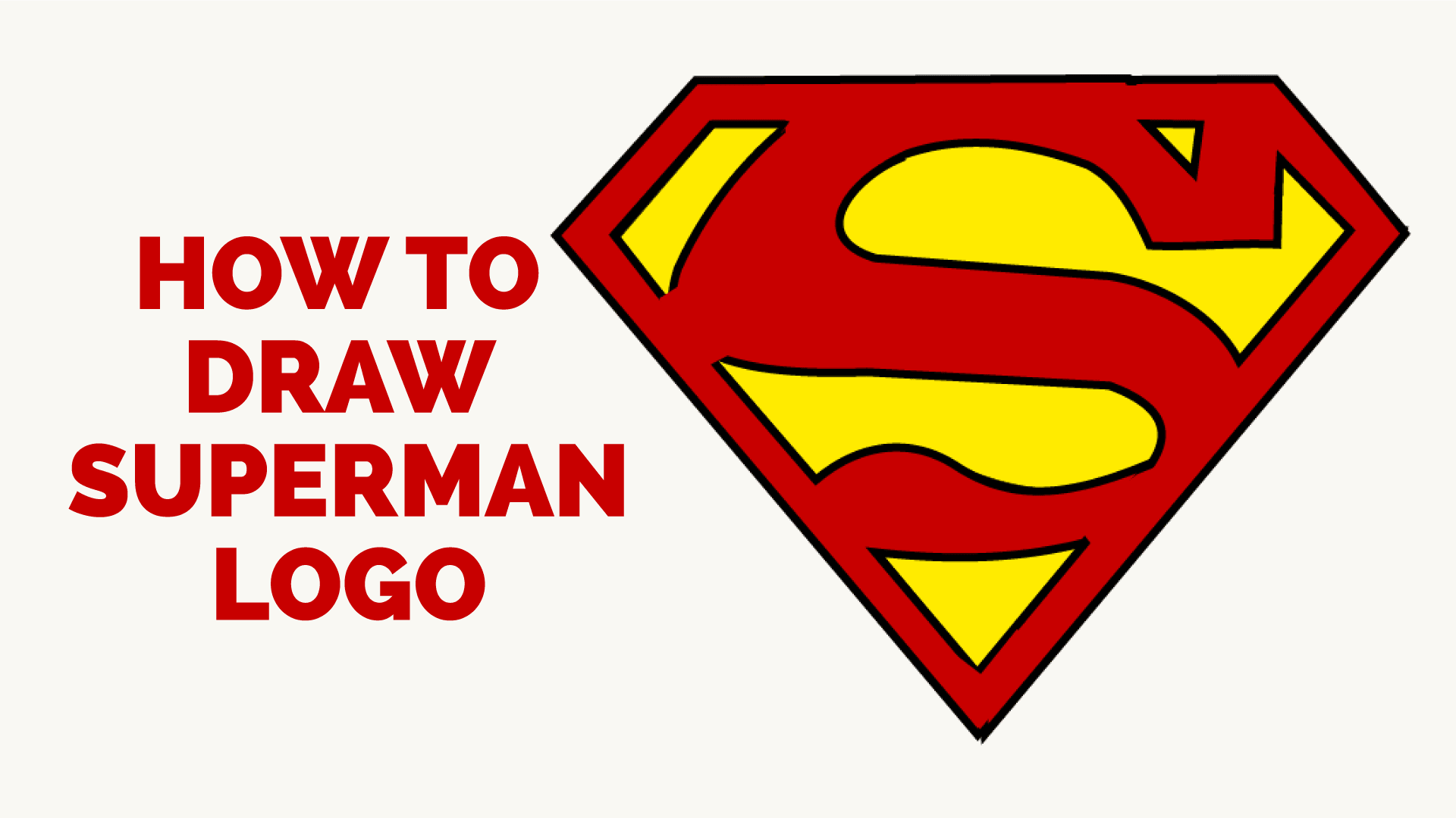 how to draw superman logo easy step by step drawing guides