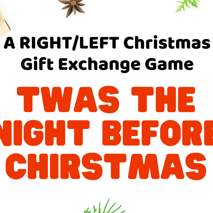 Funny Christmas Gift Exchange Ideas.Twas The Night Before Christmas Game