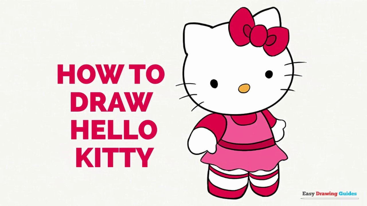 How To Draw Hello Kitty In A Few Easy Steps Easy Drawing Guides