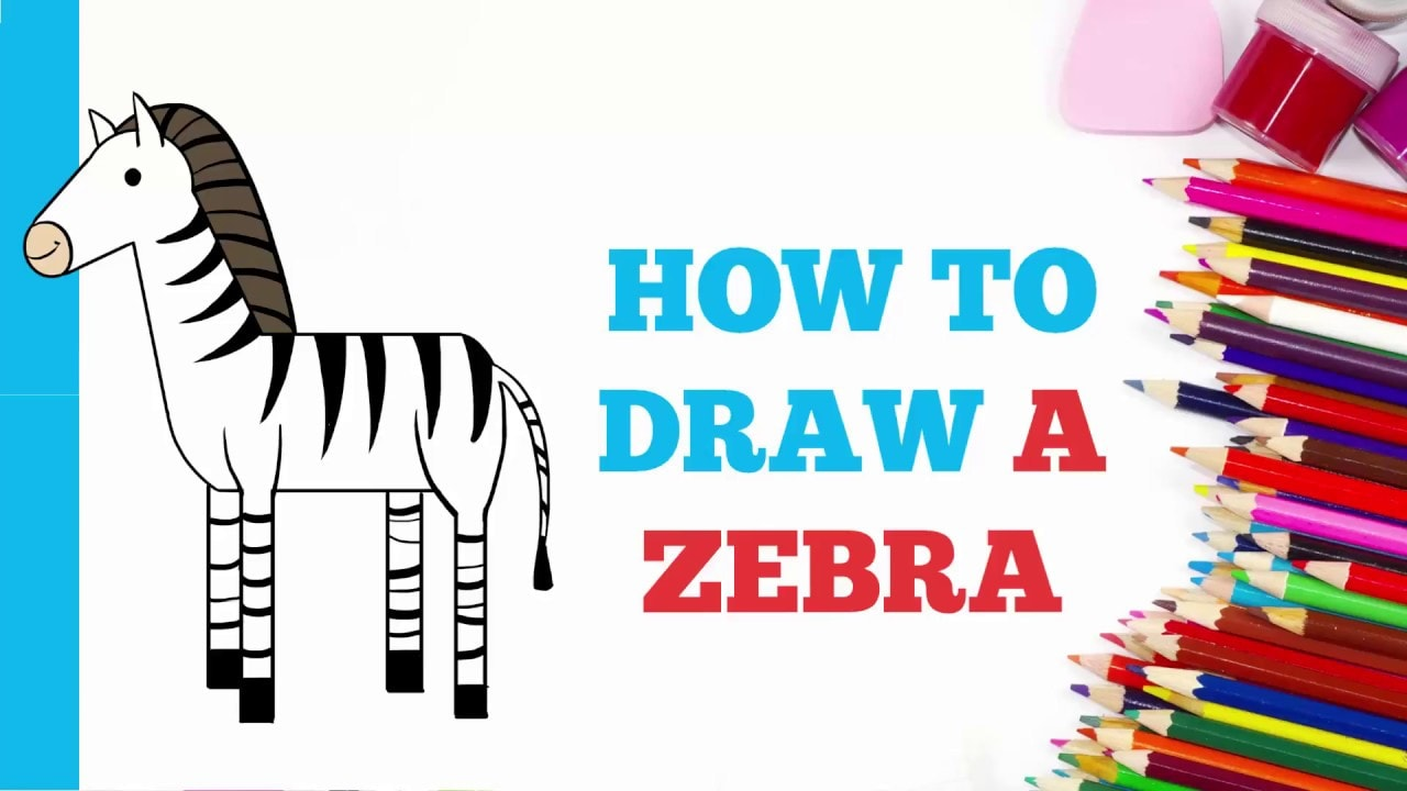 How To Draw A Zebra Really Easy Drawing Tutorial