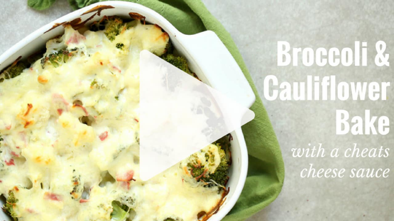 Broccoli and cauliflower bake watch the 1 minute cooking video fandeluxe Images