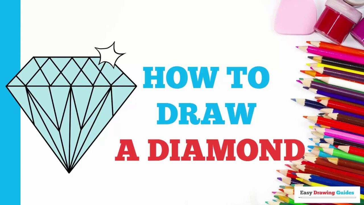 How To Draw A Diamond Really Easy Drawing Tutorial