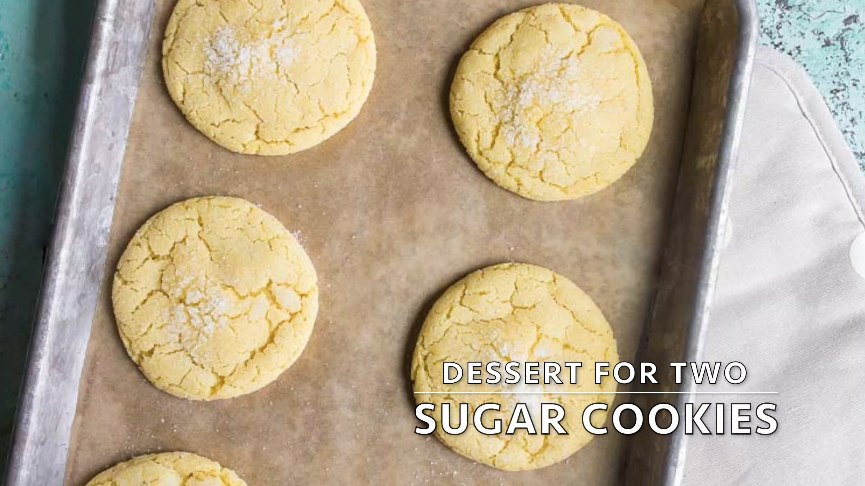 10c43c641 Easy Sugar Cookie Recipe (small batch) - Dessert for Two