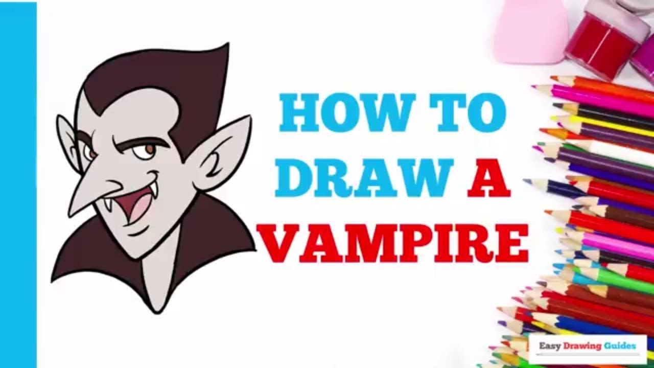 How To Draw A Vampire Really Easy Drawing Tutorial
