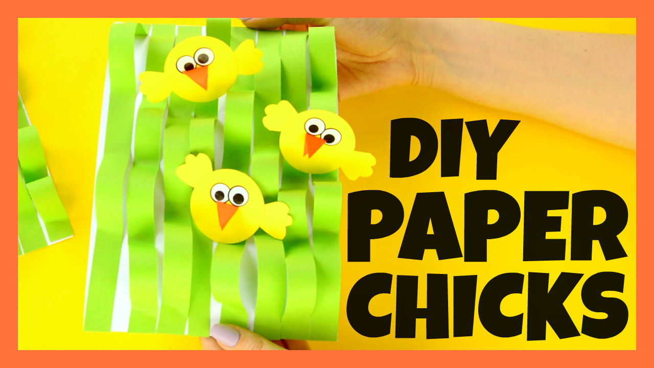 Spring Chick Paper Craft - Easter Craft Ideas - Easy Peasy and Fun