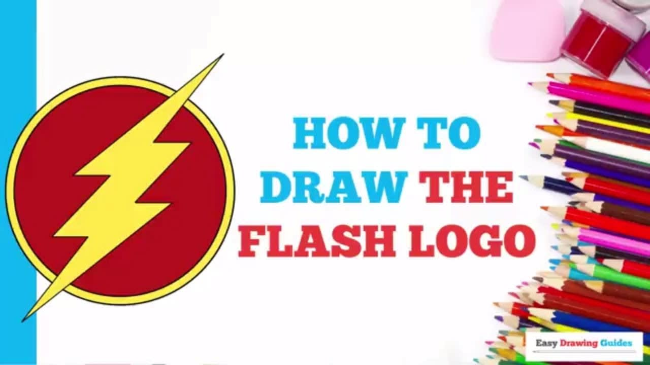 How To Draw The Flash Logo Really Easy Drawing Tutorial