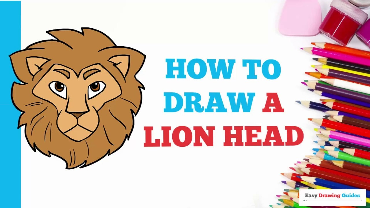 How To Draw A Lion Head Really Easy Drawing Tutorial