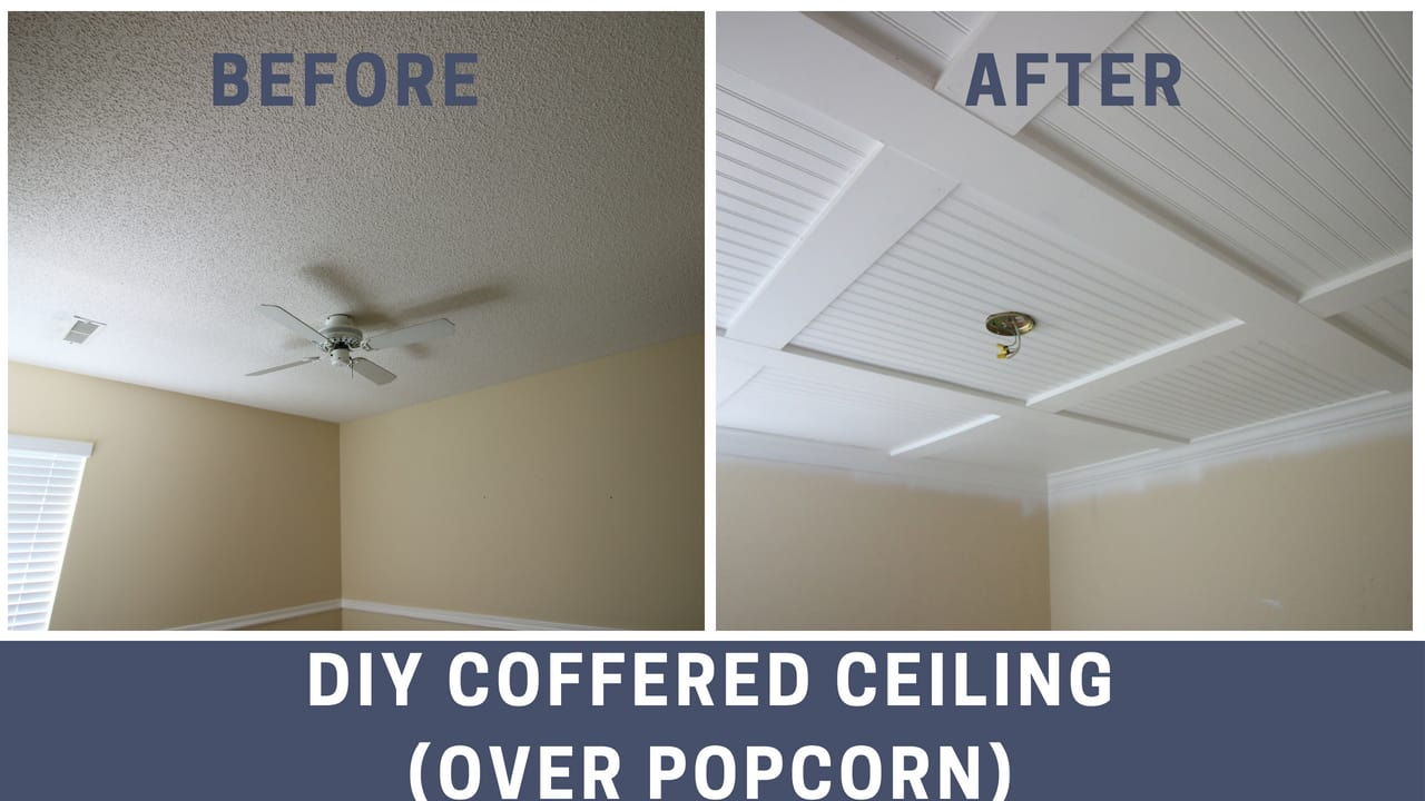 diy coffered ceiling • charleston crafted