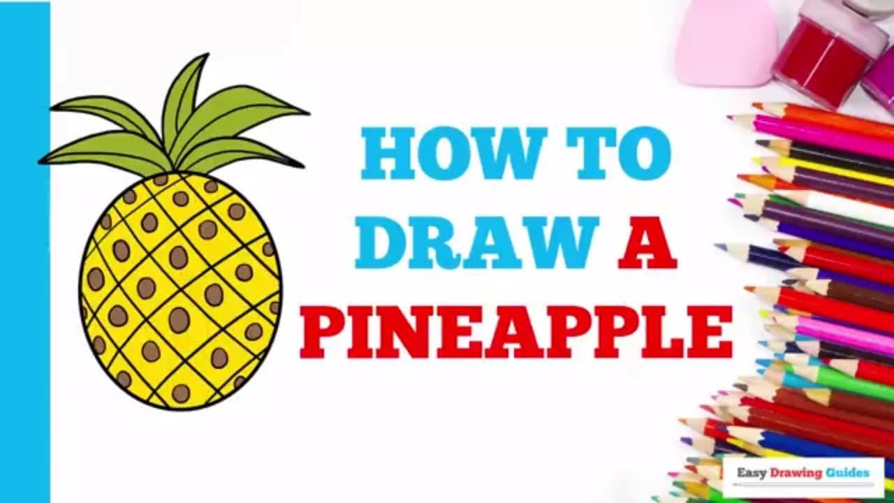 How To Draw A Pineapple Really Easy Drawing Tutorial