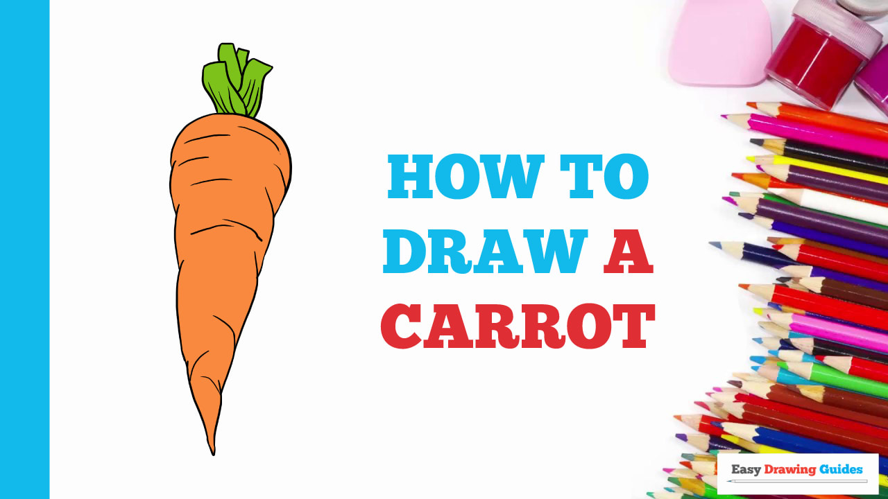 How To Draw A Carrot Really Easy Drawing Tutorial