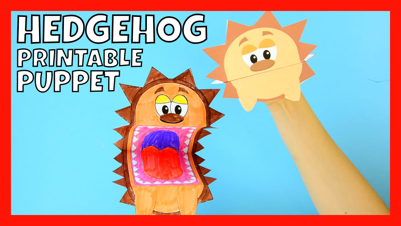 Printable Hedgehog Puppets - Easy Peasy and Fun