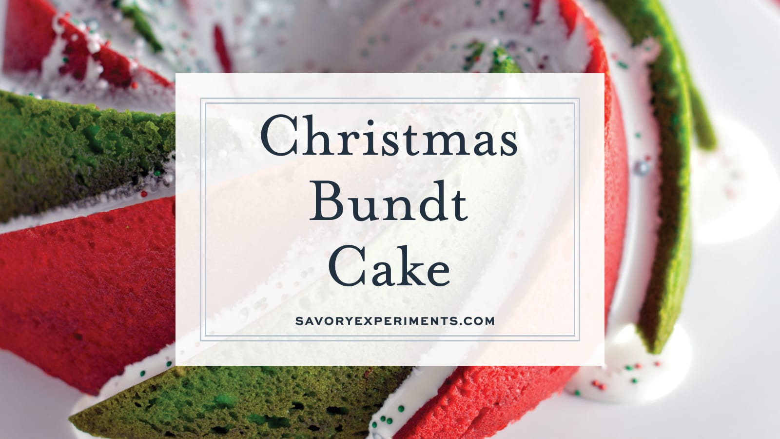 Christmas Bundt Cake | A Festive Red and Green Holiday Cake!