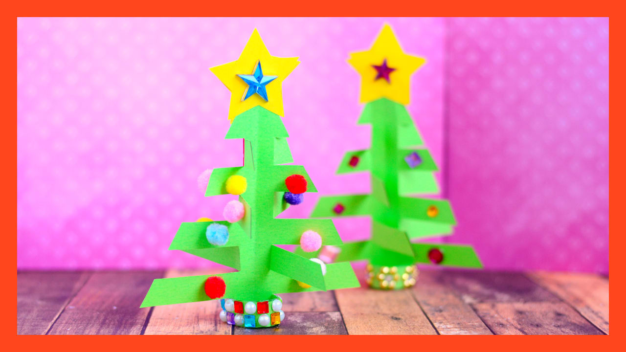 Simplest 3D Paper Christmas Tree - Print or Make with Construction ...