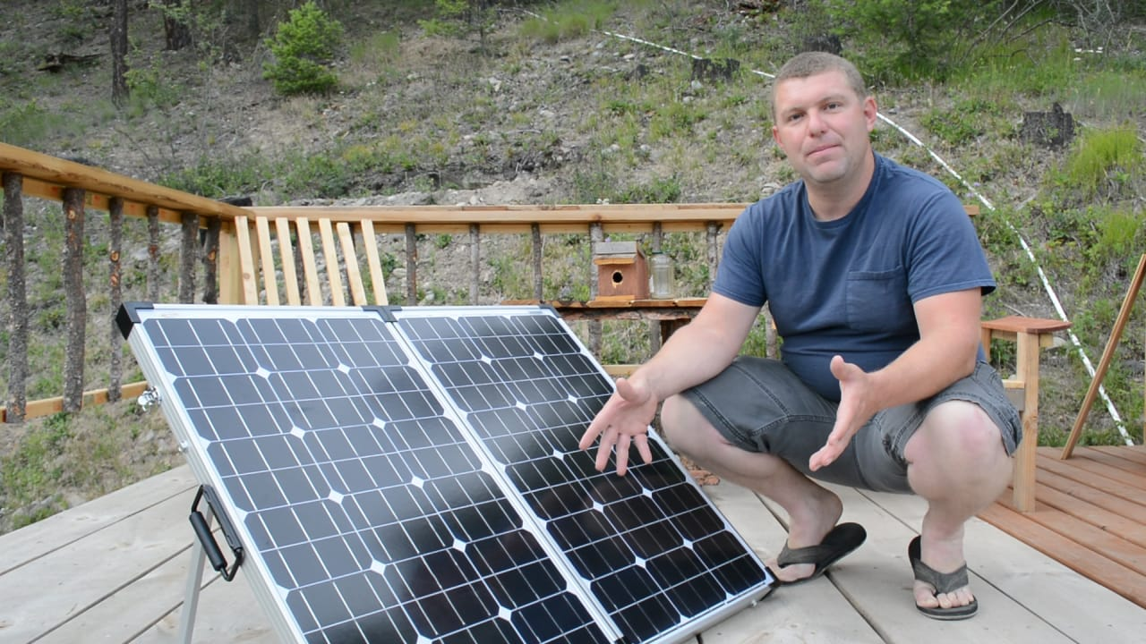 Stupid Easy Portable Solar Panels For Rv Off Grid Boondocking Tank 200l Tanks Small Also Panel System Diagram On Camping Pure Living Life