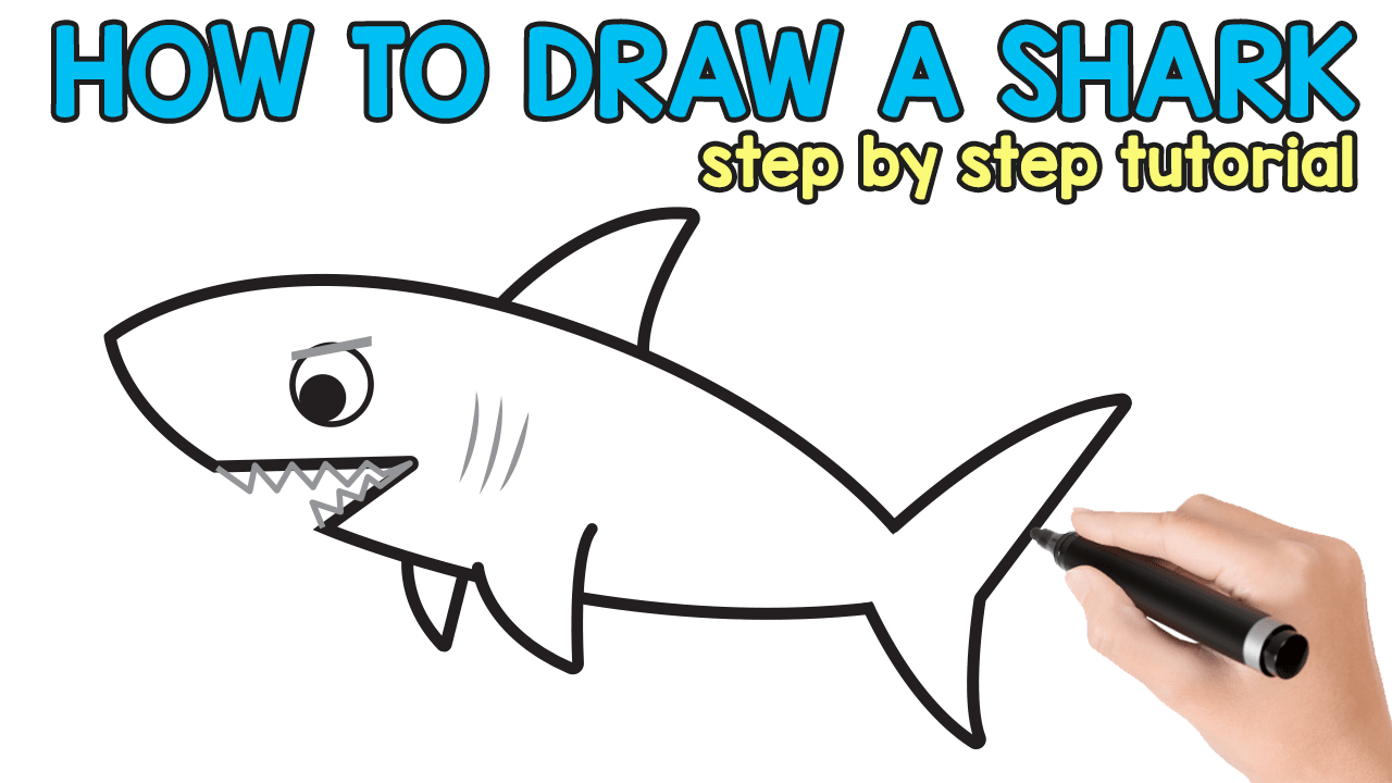 Uncategorized How To Draw A Sharks how to draw a shark easy peasy and fun
