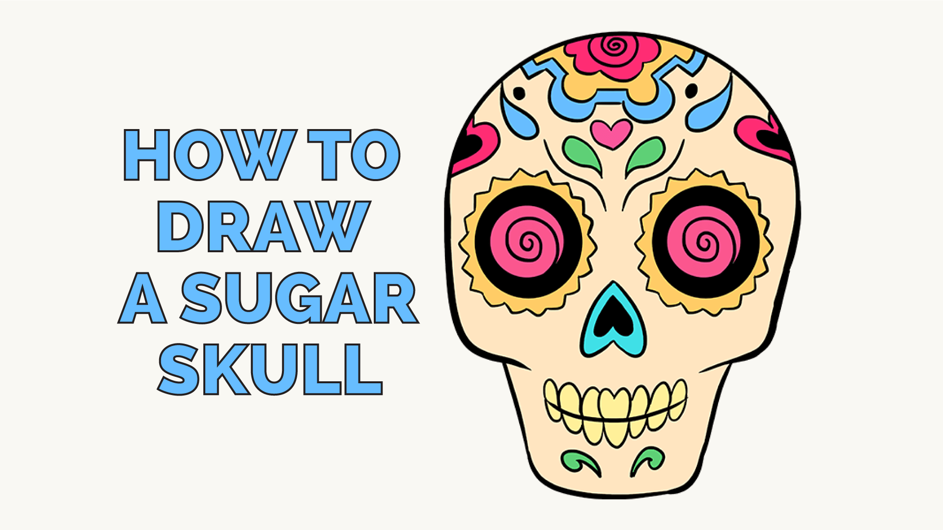How To Draw A Sugar Skull Step By Step Tutorial Easy Drawing Guides