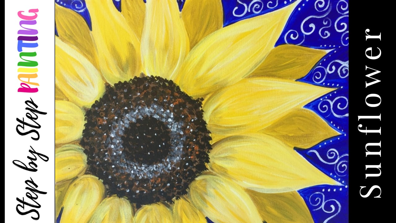 0c456f67c03 How To Paint A Sunflower - Step By Step Painting - Tutorial