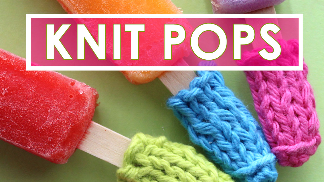How to Knit Popsicle Cozies with Video Tutorial   Studio Knit