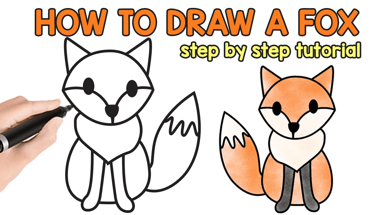 How To Draw A Fox Step By Step Fox Drawing Tutorial Easy Peasy